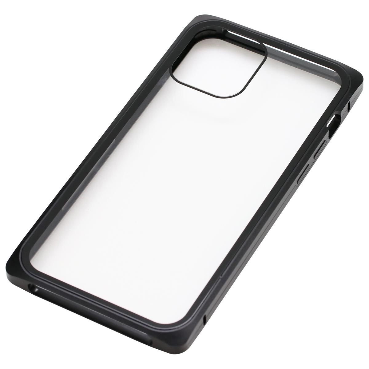 iPhone 12/12Pro用マグネットアルミバンパーケース
